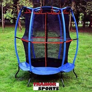 "NEW TRAINOR SPORTS 55"" TRAMPOLINE MY FIRST TRAMPOLINE AND ENCLOSURE - 55"" DIAMETER 102158819"