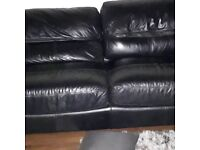 3 seater and black two seater leather