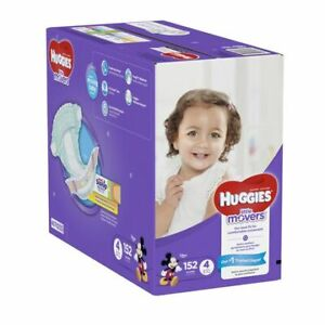 HUGGIES LITTLE MOVERS, Baby Diapers, Size 4, 152ct