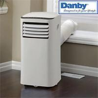 NEW* DANBY 6000BTU AIR CONDITIONER PORTABLE - COOLING, FAN AND DEHUMIDIFY MODES - REMOTE - WHITE - 6000 BTU COOLING 'A'