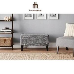 "NEW HT PRINTED STORAGE 32"" OTTOMAN - 109274478 - HOMETRENDS - HOME TRENDS - FURNITURE - HOME DECOR - BENCH"