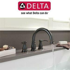 NEW DELTA DECK MOUNT TUB FAUCET Porter 2-Handle Deck-Mount Roman Tub Faucet in Oil-Rubbed Bronze BATHROOM BATH HOME
