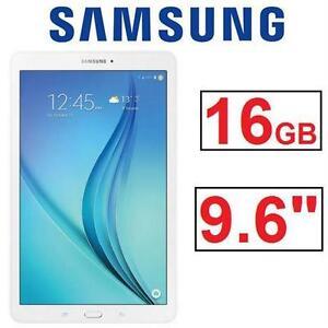 """REFURB SAMSUNG GALAXY TAB E TABLET ANDROID TABLET 9.6"""" - 16BG - WHITE 79959158"""