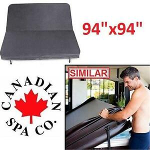 "NEW* CPC 94"" SQUARE HOT TUB COVER CANADIAN SPA COMPANY - GREY TAPERED SPAS TUB TUBS POOLS COVERS POOL OUTDOORS"