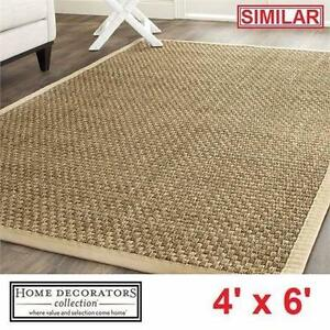 NEW* HDC SEASCAPE SEAGRASS AREA RUG HOME DECORATORS - 4' x 6' - FLOORING RUGS DECOR CARPET CARPETS MAT PAD 92176832