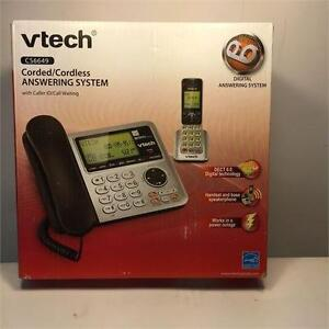 VTech® CS6649 DECT 6.0 Corded/Cordless Phone with Answering System