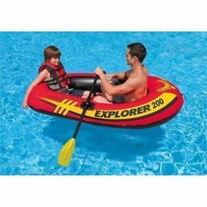 INFLATABLE BOAT SET WITH FRENCH OARS & AIR PUMP