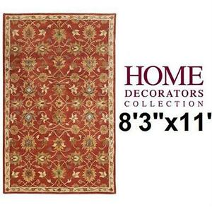 "NEW* HDC KENT AREA RUG 8'3""x11' RED - HOME DECORATORS COLLECTION Home Flooring Living Dining Room"