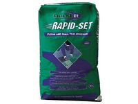 Rapid Set - Fast Set Floor & Wall Tile adhesive 20kg cladding Brick Slips Shower Kitchen &bathroom
