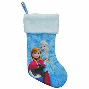 "Disney Frozen Princess Anna Elsa 18"" Christmas Stocking with Fur Cuff"