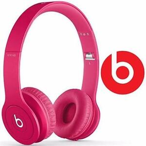 NEW OB BEATS SOLO HD HEADPHONES DRENCHED IN PINK - ON-EAR HEADPHONES  81986671