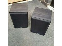 Gale 3010 mini black bookshelf speaker's