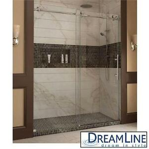 "NEW DREAMLINE SLIDING SHOWER DOORS ENIGMA-X 44  48"" x 76"" FRAMELESS SLIDING SHOWER DOOR SYSTEM - BATHROOM BATH  82636076"