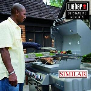 NEW WEBER GENESIS 3 BURNER GRILL 38000 BTUS - NATURAL GAS GRILL - E-310 GENESIS BLACK BARBECUE BBQ