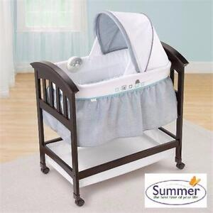 NEW SUMMER INFANTS WOOD BASSINET   TURTLE TALES WOOD BASSINET BABY FURNITURE CRIB NURSERY 98637763