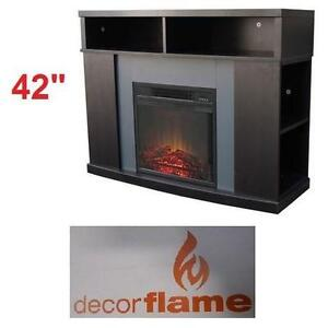 """NEW*DECORFLAME 42"""" FIREPLACE MANTLE INCLUDE FIREBOX - REMOTE -HOME HEATING HEATER FIREPLACES FIREBOXES DECOR MANTELS"""