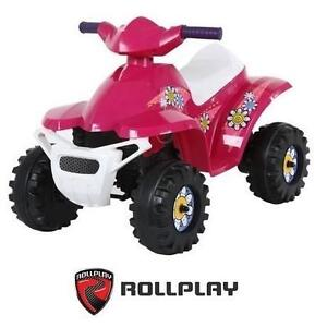 NEW ROLLPLAY 6V MINI QUAD TOY ELECTRIC - PINK RIDE ON KID'S TOY CAR ATV FOUR WHEELER RIDE-ON 107129087