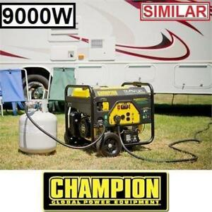 RFB* CHAMPION 439CC GAS GENERATOR 100155 189461846 DUAL FUEL GASOLINE PROPANE 9000W 7000W ELECTRIC START OUTDOOR GENE...