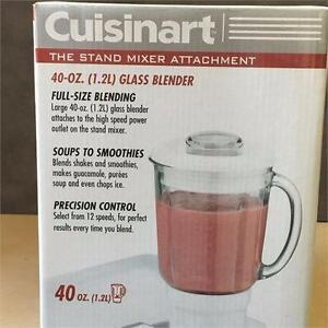 NEW, Cuisinart SM-BL 40 Oz Blender Attachment - Fits SM-55C & SM-70C Stand Mixer