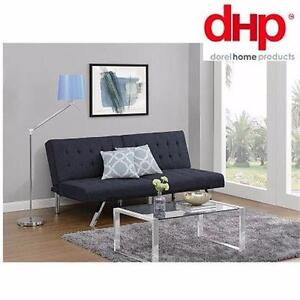 NEW DHP NAVY CONVERTIBLE FUTON   NAVY BLUE - EMILY COLLECTION HOME FURNITURE COUCH LIVING ROOM DECOR 97247308