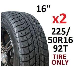 """2 NEW WEATHERMATE WINTER TIRES 16"""" HY2024 214751487 225/50R16 92T"""