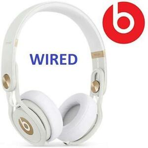 NEW BEATS MIXR GUETTA HEADPHONES DAVID GUETTA WHITE/GOLD LIMITED EDITION - W/ MIC  REMOTE - WIRED 105946071