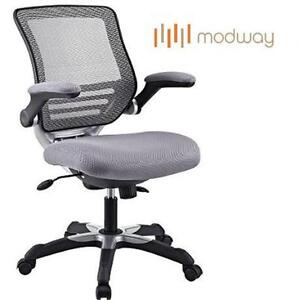 NEW MODWAY EDGE MESH OFFICE CHAIR GRAY - GREY 102221628
