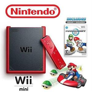 NEW NINTENDO WII MINI MK BUNDLE RED - REMOTE - NUNCHUK - MARIO KART - VIDEO GAMES - CONSOLE - SYSTEM  79961921