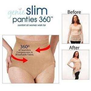 NEW GENIE SLIM PANTIES WOMEN 3X/4X NUDE GENIE SLIM PANTEIS 360 - UNDERWEAR 110185394