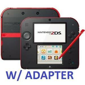 REFURB NINTENDO 2DS SYSTEM RED VIDEO GAMES - HANDHELD CONSOLE - CRIMSON RED 108525409