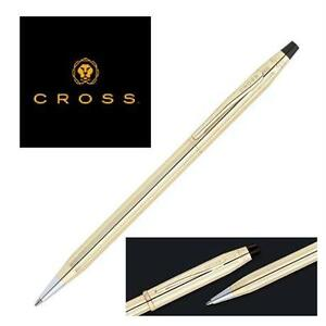 NEW CRS STAMPED 10K GOLD FILLED PEN CROSS 10K GOLD FILLED/ROLLED GOLD BALL POINT PEN