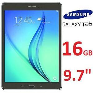 """REFURB SAMSUNG GALAXY TAB A 9.7"""" 16GB WIFI TABLET SMOKY TITANIUM - 2 85522628"""