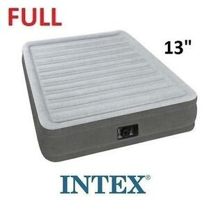"NEW INTEX 13"" FULL AIRBED MATTRESS FULL COMFORT-PLUSH - MID RIDE - AIR BED 106773163"