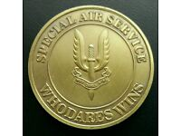 British Army S.A.S Who Dares Wins Challenge Coin