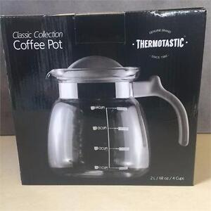 NEW,Genuine Brand Thermostatic Coffee pot 2 Liters/ 68 oz/ 4 cups