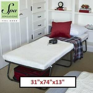 "NEW SPA SENSATIONS GUEST BED STEEL FRAME WITH MATTRESS - 31""x74""x13"" 104820663"