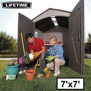 NEW LIFETIME STORAGE SHED 7 x 7 FT. - 131209662 - 2 WINDOWS