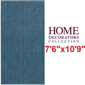 "NEW HDC SADDLESTICH AREA RUG 7'6""x10'9"" - INDOOR OUTDOOR - HOME DECORATORS COLLECTION  77655751"
