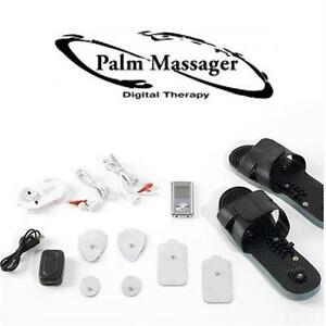 NEW PALM MASSAGER 2 W/ SHOES COMBO SET WITH MASSAGE SHOES SILVER - PULSE MASSAGERS HEALTH BEAUTY - MASSAGE RELAXATIO