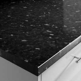 Black Slate Gloss Kitchen Worktop