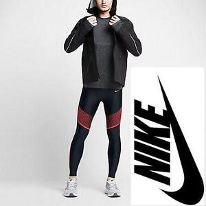 NEW NIKE RUNNING TIGHTS MEN'S LG POWER SPEED CARDIO LEGGINGS - DRI FIT - CLOTHING ATHLETIC PANTS BOTTOMS