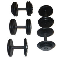 FITNESS DEPOT Fixed Rubber Dumbbell - Pro Style DFR