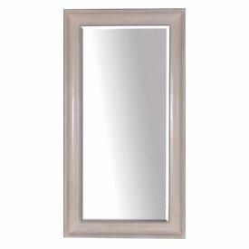 Large Plain White Mirror Wall