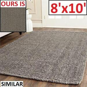 NEW RH CHUNKY WEAVE AREA RUG 8'x10' LINEN COLOUR - RESTORATION HARDWARE - HOME FURNITURE DECOR  81621440