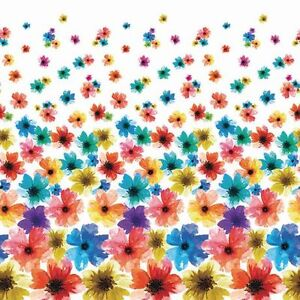 NEW:Mon-Tex Mills Floral Peva Shower Curtain(HOOKS NOT INCLUDED)