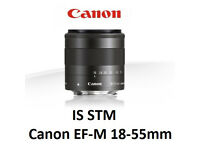 Canon EF-M 18-55mm IS STM Lens + filters uk delivery