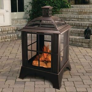 Outdoor Steel Fireplace