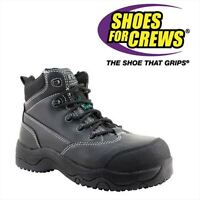 SHOES FOR CREWS LEATHER STEEL TOE BOOTS MEN'S 8M