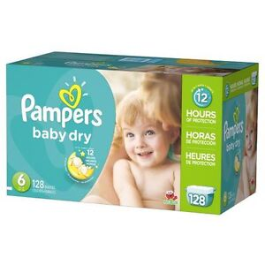 Boîte de 84 couches #6 pampers baby dry pour 20$