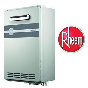 NEW* RHEEM OUTDOOR GAS WATER HEATER LP ECOSENSE - 8.4 GPM LIQUID PROPANE GAS HIGH EFFICIENCY OUTDOOR TANKLESS   89526866